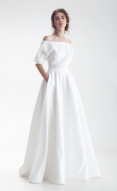 Современное простое свадебное платье