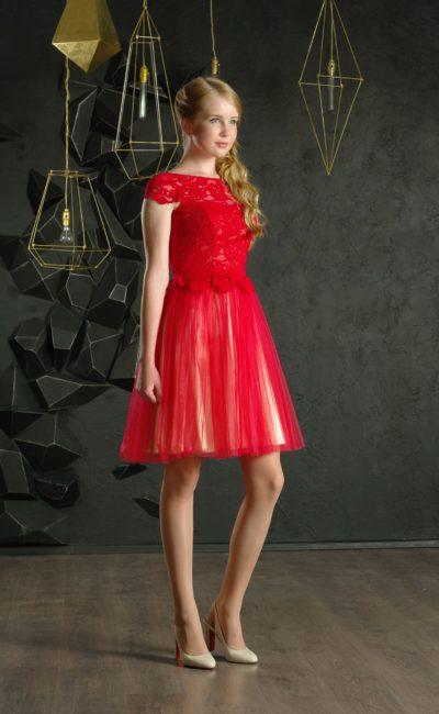 Короткое выпускное платье