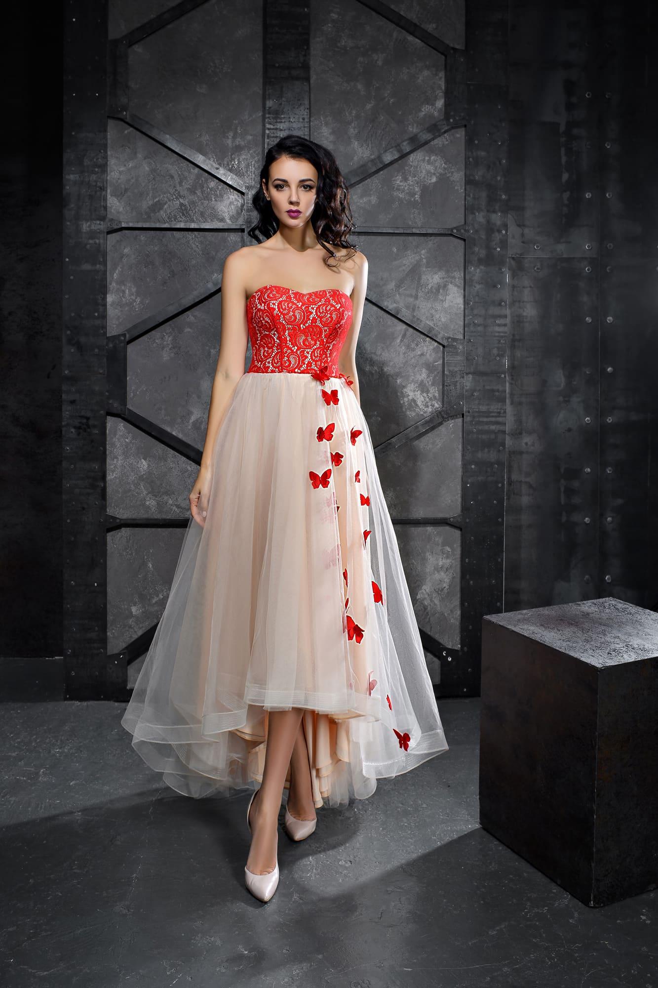 887c6925477 Укороченное спереди платье Kira Nova Агнесса ▷ Свадебный Торговый ...