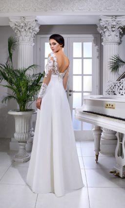 Ампирное свадебное платье для беременных