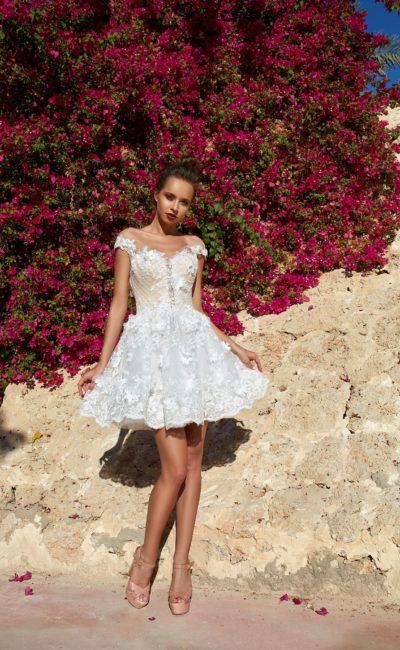 Короткое свадебное платье мини