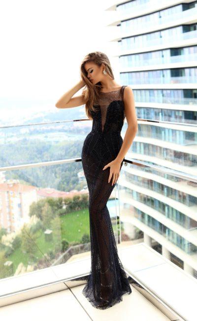 Черное платье русалка