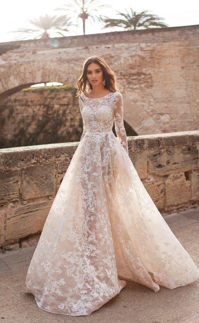Кружевное платье айвори