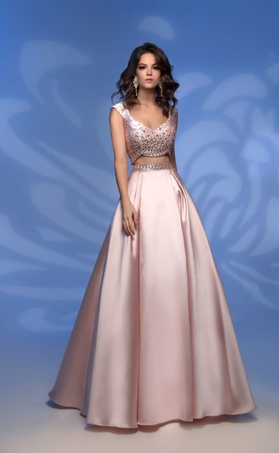 Розовое платье crop top