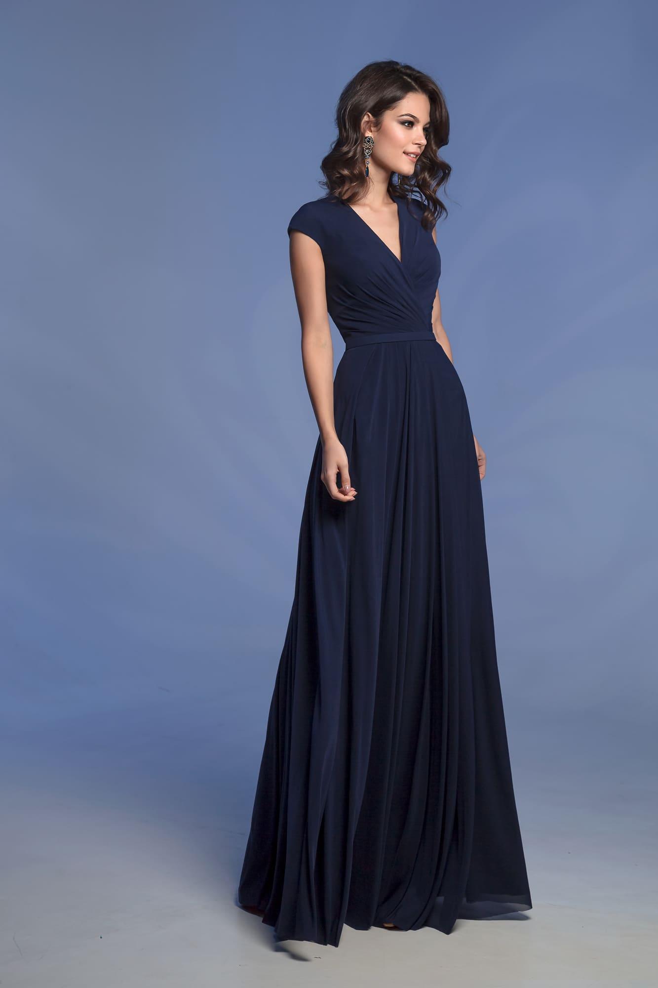 9ddb018e63b Темно-синее коктейльное платье Nora Naviano 31251 navy ▷ Свадебный ...