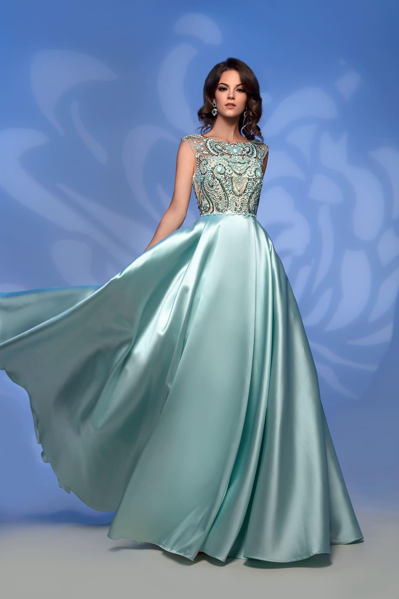 787e976bc13418b Вечернее платье Nora Naviano 32359 green ▷ Свадебный Торговый Центр ...