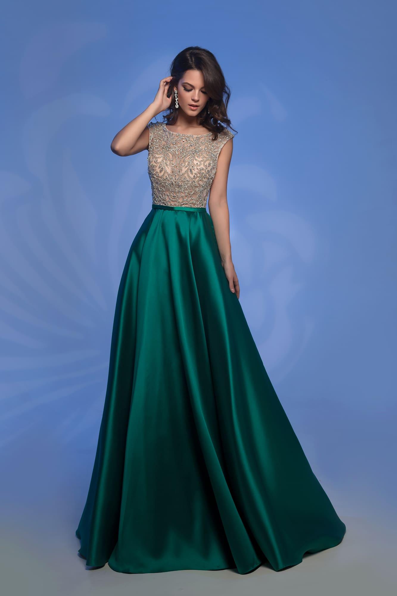 13791080b84cde8 Платье с изумрудной юбкой Nora Naviano 32362D green ▷ Свадебный ...