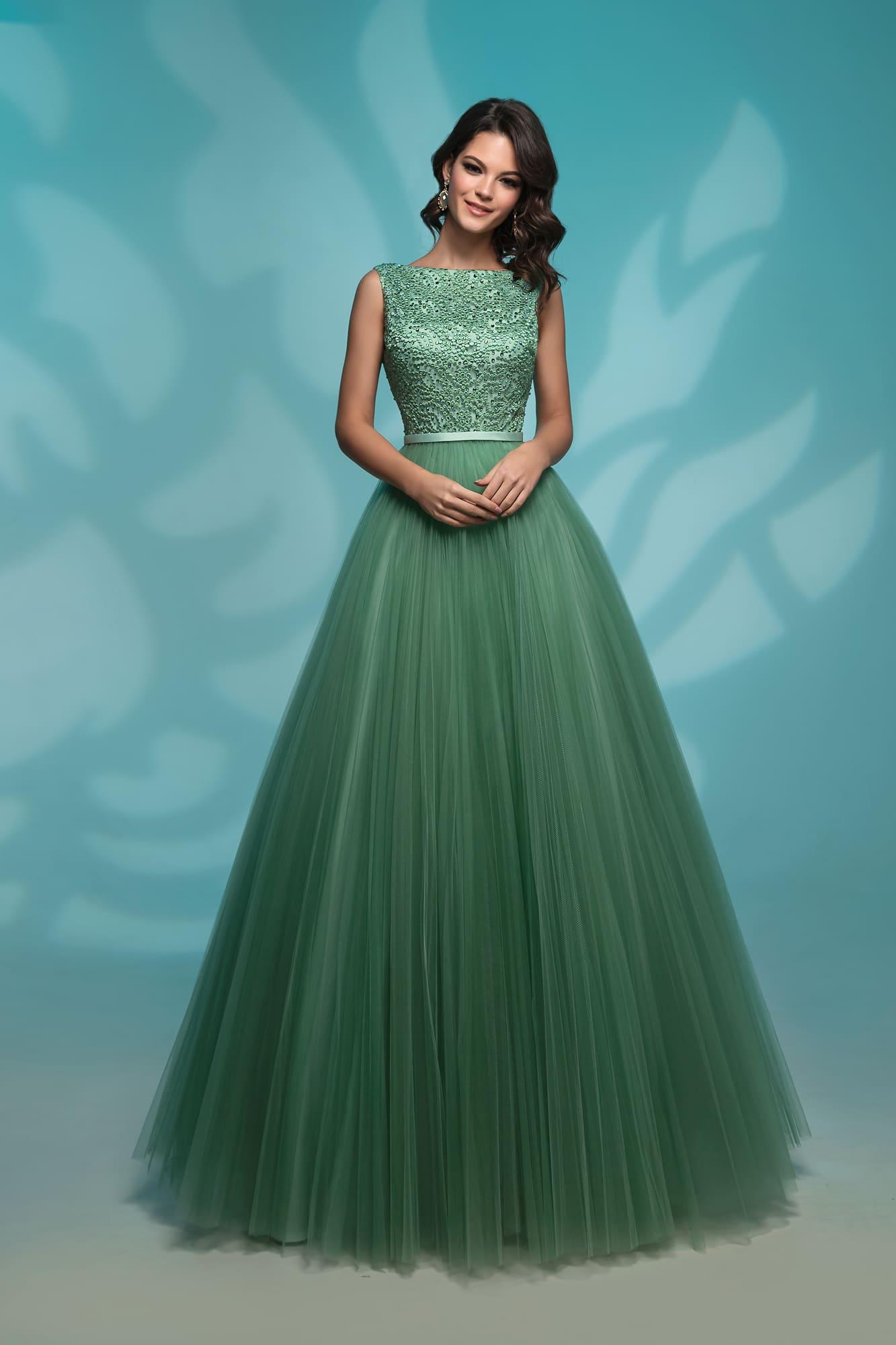 5d6e87347ca Вечернее платье Nora Naviano 72766 green ▷ Свадебный Торговый Центр ...