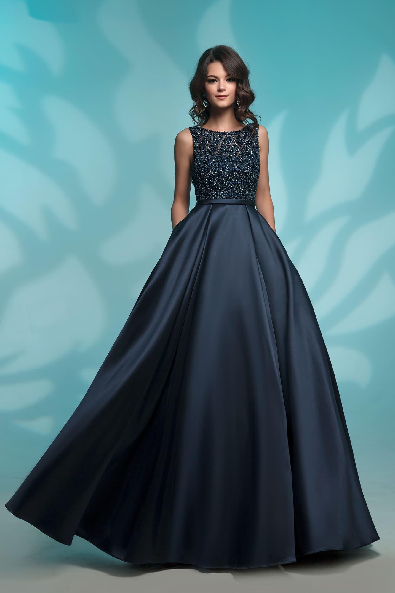 66b39029f92 Темно-синее платье Nora Naviano 8142 navy ▷ Свадебный Торговый Центр Вега в  Москве