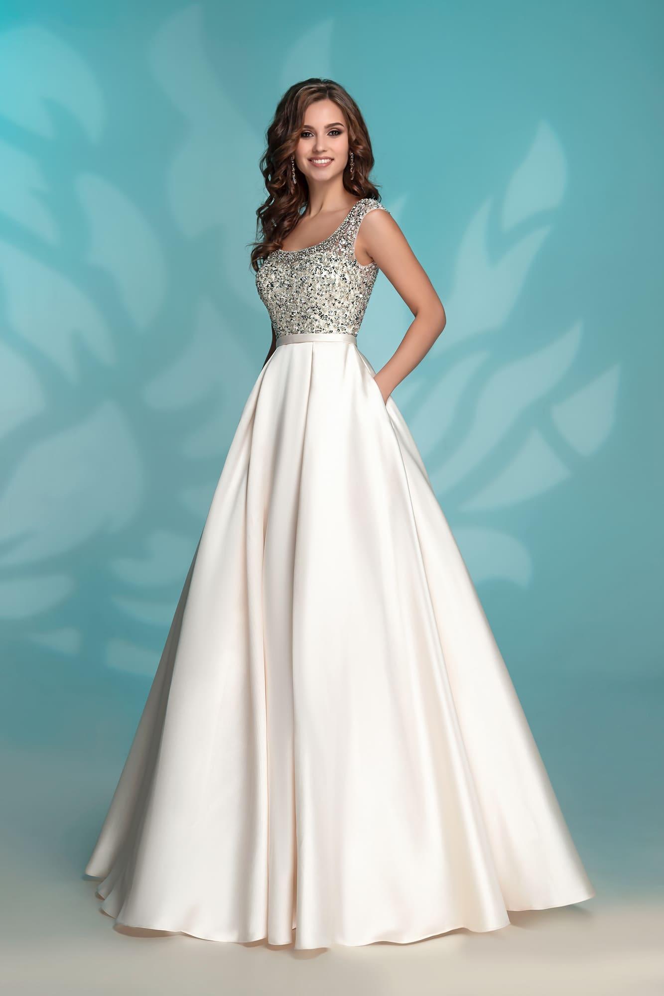 773d08d853ee302 Расшитое платье Айвори Nora Naviano 8176 ivory ▷ Свадебный Торговый ...