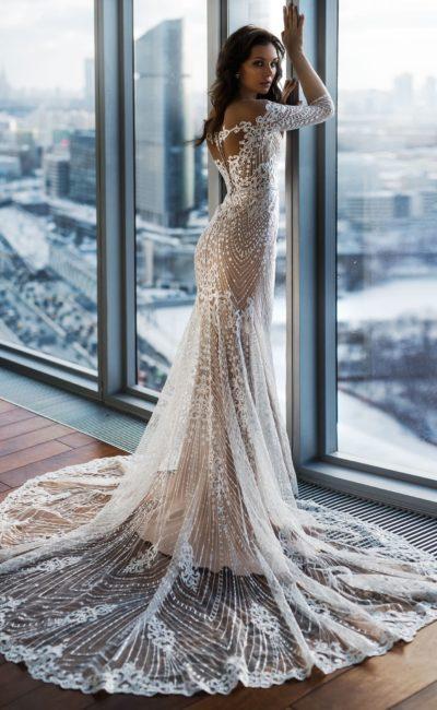 Кружевное свадебное платье «рыбка»