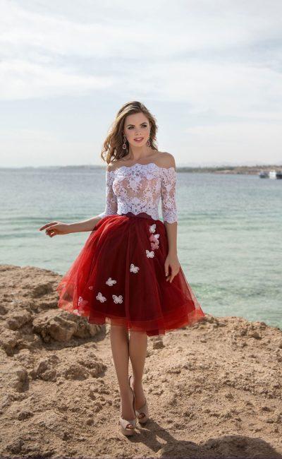 Короткое раздельное платье