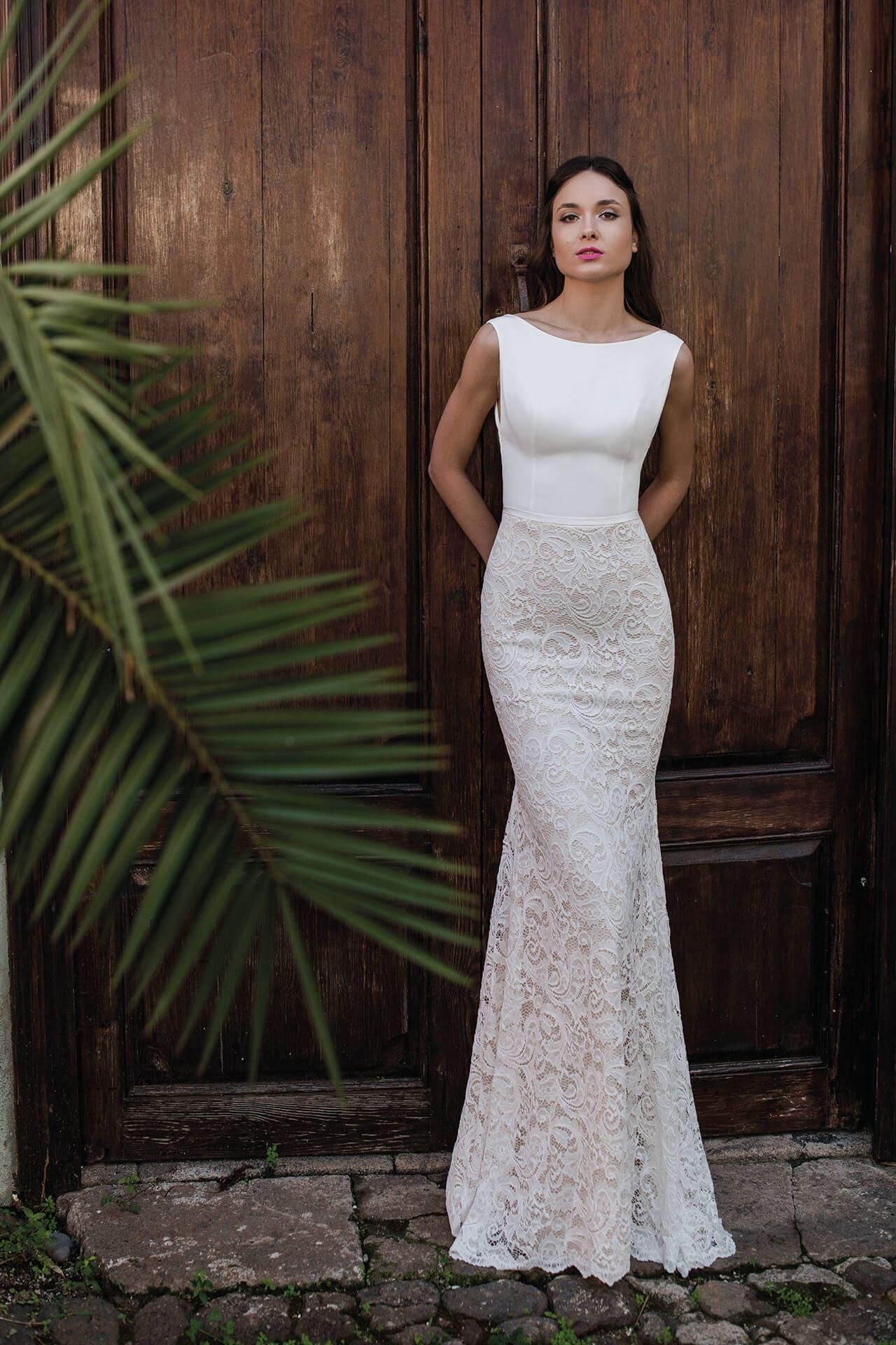 приталенные свадебные платья фото выдержал