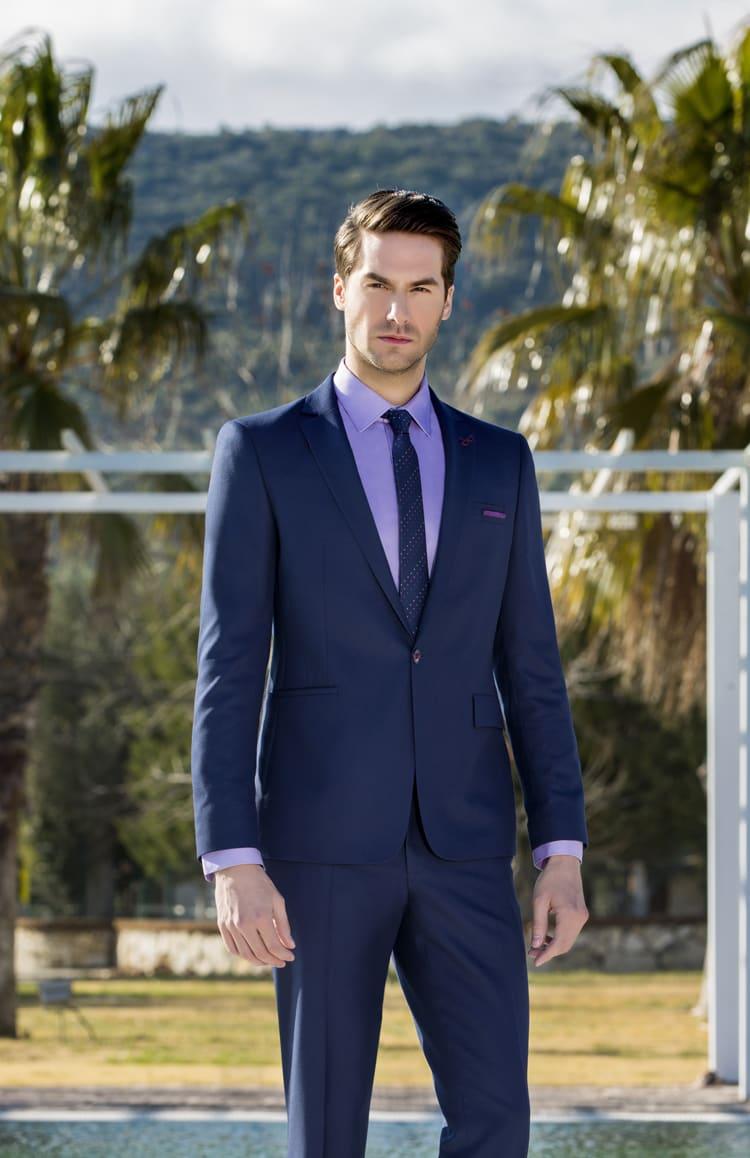 23f599d1b95 Темно-синий мужской костюм Giotelli 17-002 ▷ Свадебный Торговый ...