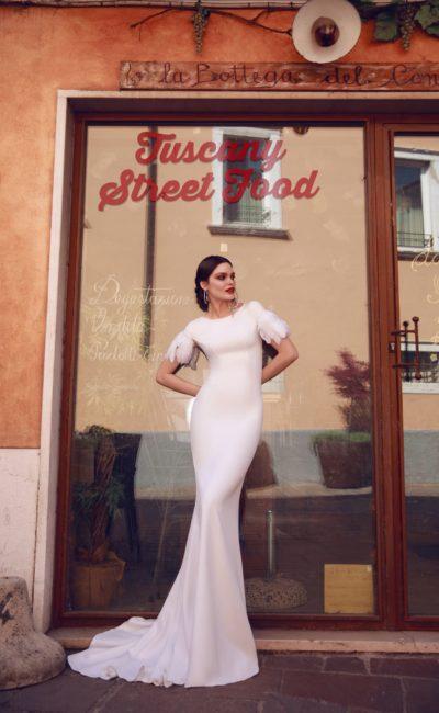 Свадебное платье «русалка» ретро