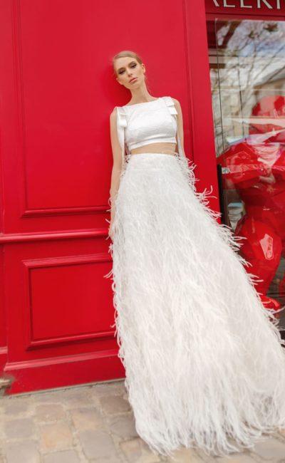 Дизайнерское платье кроп-топ