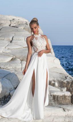 Свадебное платье халтер