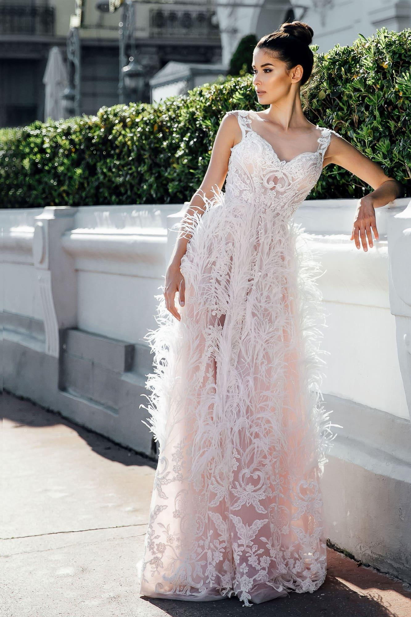 4394b04483f Розовое свадебное платье Gabbiano Abigelia ▷ Свадебный Торговый Центр Вега  в Москве
