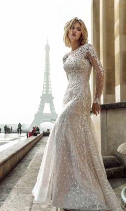 Свадебное платье с юбкой годе