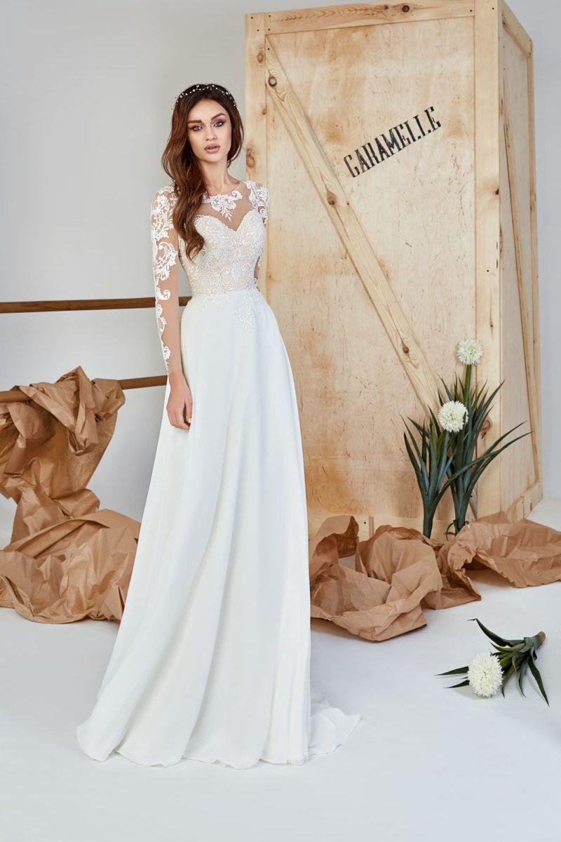 Приталенное платье с прямой юбкой