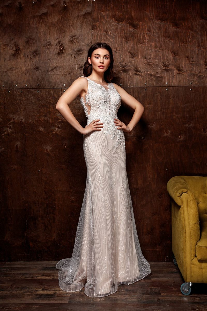 Элегантное облегающее свадебное платье «русалка»