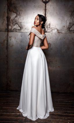 Двухцветное свадебное платье