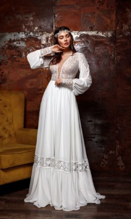 Свадебное платье в стиле этно