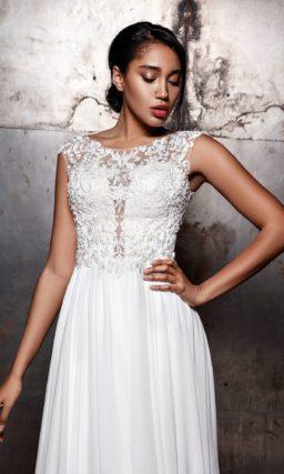 Свадебное платье с небольшим шлейфом