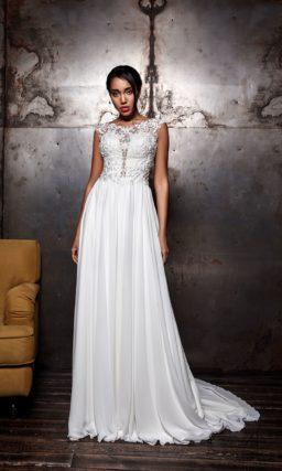 Свадебное платье прямого силуэта