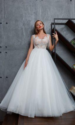 Бальное свадебное платье для торжественной церемонии