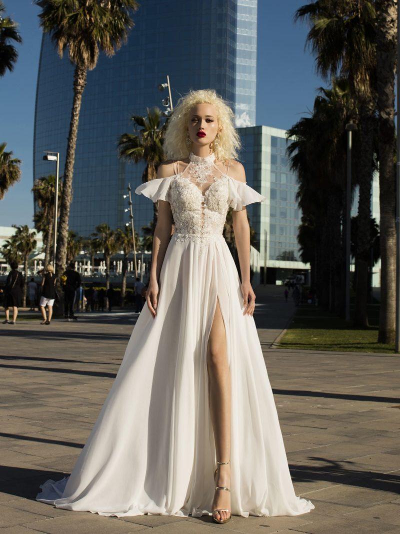 Оригинальное свадебное платье с актуальным силуэтом