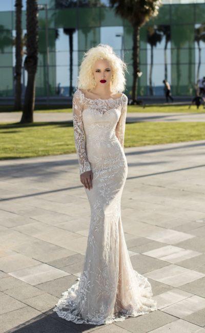 Элегантное свадебное платье «русалка»