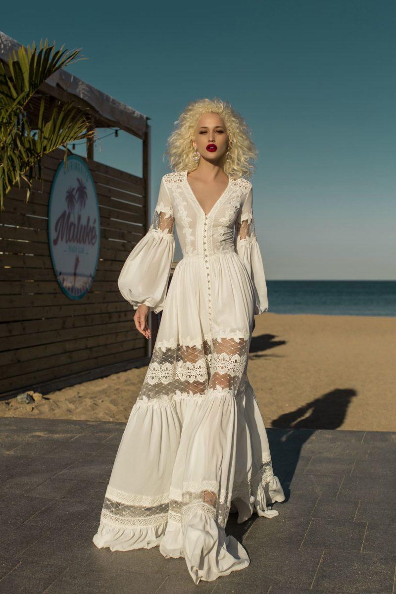 Свадебное платье в стиле бохо-шик
