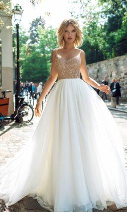 Свадебное платье с блестками