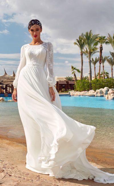 Красивое платье на венчание в церкви