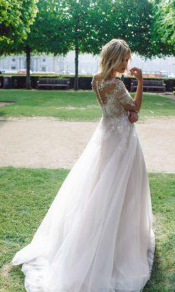 свадебное платье из нежнейшего фатина