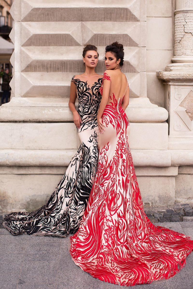 вечернее платье с обольстительным силуэтом «русалка»
