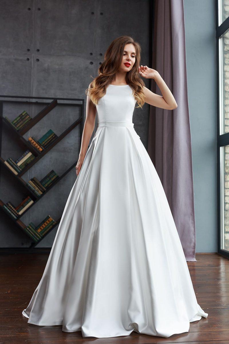 Романтическое свадебное платье в А-силуэте
