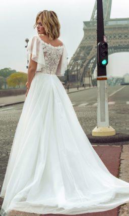 Пышное воздушное свадебное платье