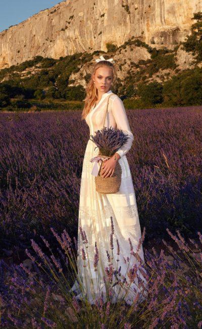 Сдержанное свадебное платье в стиле прованс