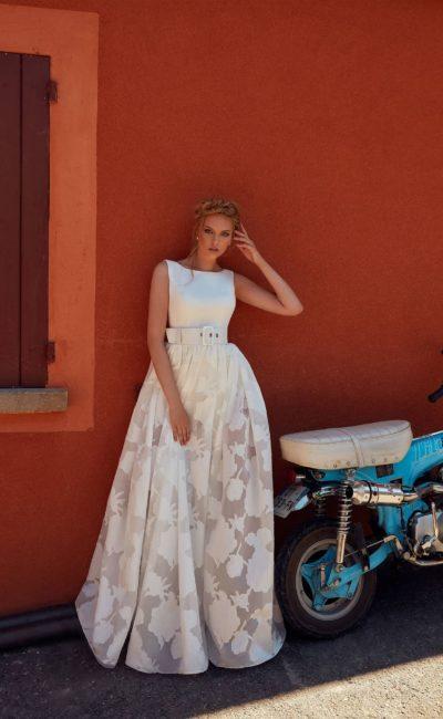 свадебное платье с закрытым лаконичным корсетом