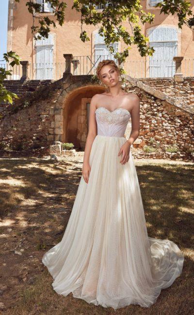 свадебное платье с открытыми плечиками
