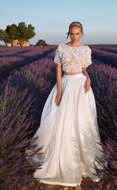 Красивое платье crop-top