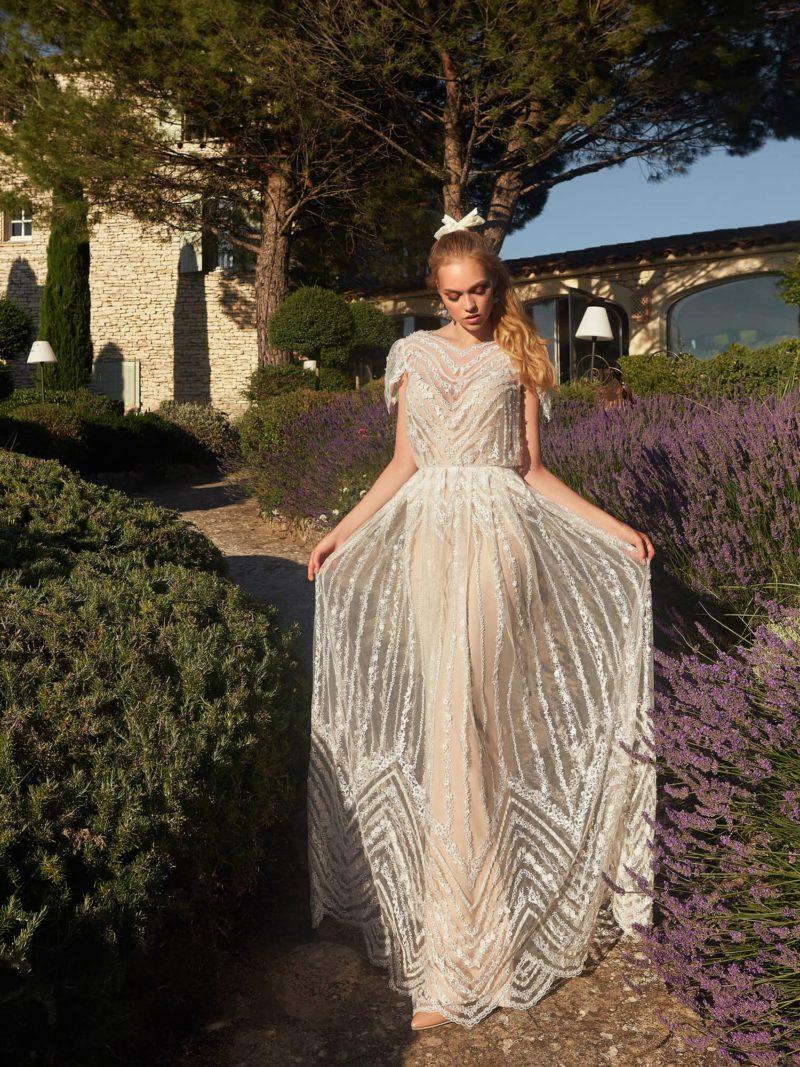 свадебное приталенное платье
