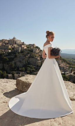 свадебное платье из молочного шелкового шифона