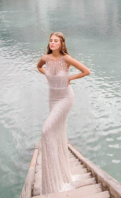 Эффектное свадебное платье русалка