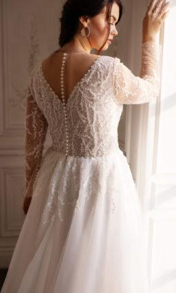 Свадебное платье большого размера с кружевным верхом