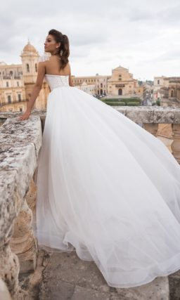 Платье «трансформер» со съемным шлейфом