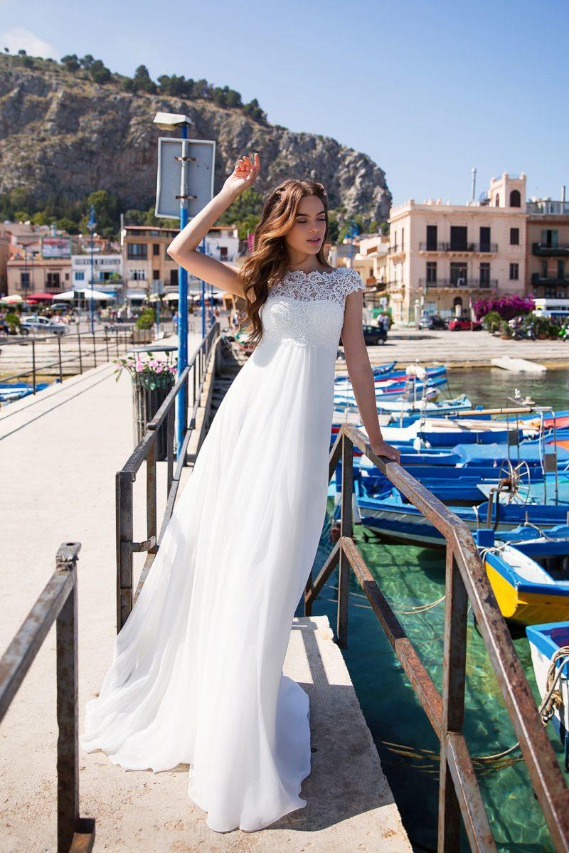 Свадебное платье в греческом стиле для беременных