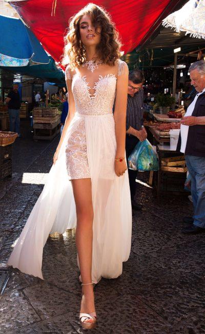 Короткое свадебное платье-трансформер